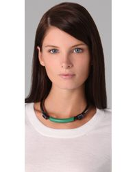 3.1 Phillip Lim - Black Single Leather Circuit Collar Necklace - Lyst