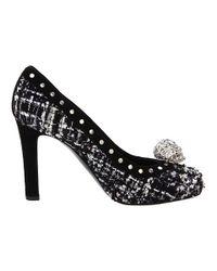 Alexander McQueen - Black Suede High Heel Platform - Lyst