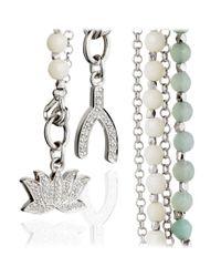 Astley Clarke | Metallic Silver Wishbone Friendship Bracelet | Lyst
