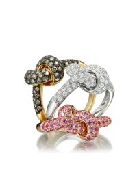 Astley Clarke - Yellow Love Knot Ring - Lyst