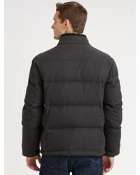 Cole Haan - Gray Flannel Down Jacket for Men - Lyst