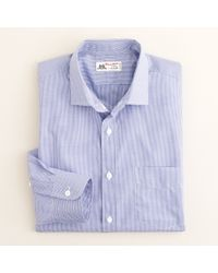 J.Crew | Blue Thomas Mason® Fabric Spread-collar Dress Shirt in Mini-gingham for Men | Lyst
