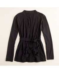 J.Crew | Black Always Wrap Cardigan | Lyst