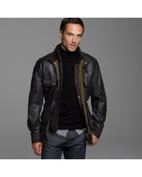 J.Crew | Black Belstaff® Sammy Miller Jacket for Men | Lyst