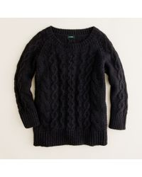J.Crew | Black Fisherman Sweater | Lyst