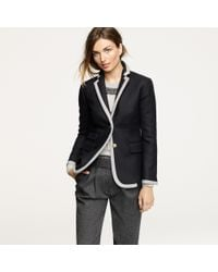 J.Crew | Black Hacking Jacket in Tipped Double-serge Wool | Lyst