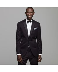 J.Crew | Black Ludlow Two-button Tuxedo Jacket with Double-vented Back in Italian Chino for Men | Lyst
