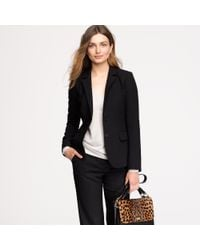 J.Crew | Black Nouvelle Jacket in Wool Crepe | Lyst