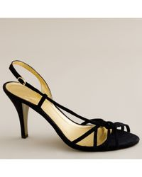 J.Crew | Black Rory Strappy Sandals | Lyst