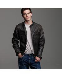 J.Crew | Black Stockton Racer Jacket for Men | Lyst