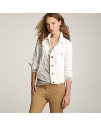 J.Crew | Nolita White Denim Jacket | Lyst