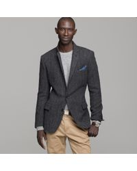 J.Crew | Gray Buckley Herringbone Sportcoat in Ludlow Fit for Men | Lyst