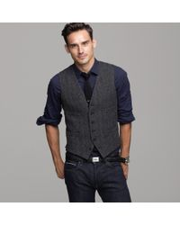 J.Crew | Gray Buckley Herringbone Vest for Men | Lyst
