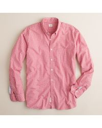 J.Crew | Red Secret Wash Button-down Shirt in Small Gingham for Men | Lyst