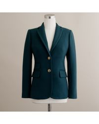 J.Crew | Green Hacking Jacket in Double-serge Wool | Lyst