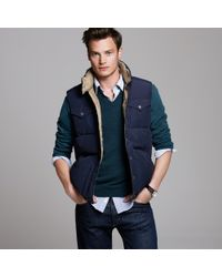 J.Crew | Blue Boulder Vest for Men | Lyst