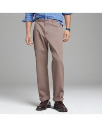 J.Crew | Brown Essential Chino in Relaxed Fit for Men | Lyst