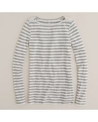 J.Crew | Gray Boatneck Painter Tee in Stripe | Lyst