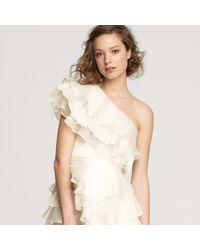 J.Crew - White Nadia One-shoulder Dress - Lyst
