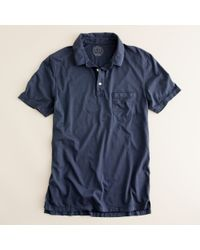 J.Crew | Blue Broken-in Pocket Polo In Slim Fit for Men | Lyst