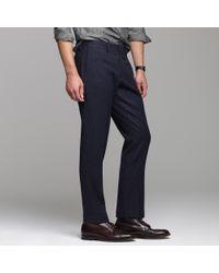 J.Crew - Blue Bowery Heavyweight Wool Herringbone in Urban Slim Fit for Men - Lyst