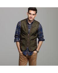 J.Crew | Green Barbour® Polarquilt Waistcoat/zip-in Liner for Men | Lyst
