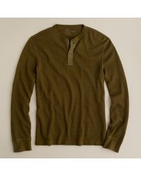 J.Crew | Green Spindletop Waffle Henley for Men | Lyst