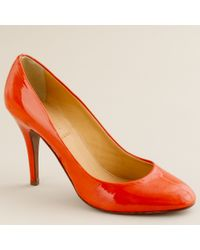 J.Crew | Red Mona Patent Pumps | Lyst