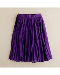 J.Crew | Purple Jardin Skirt | Lyst