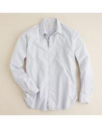 J.Crew | White Secret Wash Point-collar Shirt in Banker Stripe for Men | Lyst