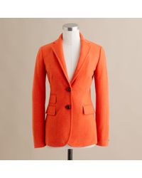 J.Crew | Orange Hacking Jacket in Herringbone | Lyst