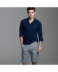 J.Crew | Blue Club Short in Grey Chambray for Men | Lyst