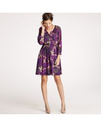 J.Crew | Purple Maisie Dress in Abstract Floral | Lyst