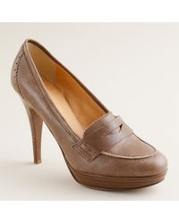 J.Crew | Brown Biella High-heel Loafers | Lyst