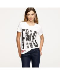J.Crew | White Fashions Night Out Tee | Lyst
