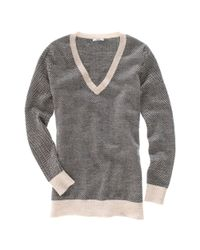 Madewell - Gray Herringbone Sweater - Lyst