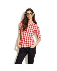 Madewell - Red Streetscape Ex-boyfriend Shirt - Lyst