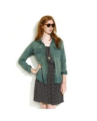 Madewell | Green Colorfade Ex-boyfriend Shirt | Lyst