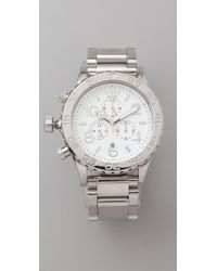 Nixon | Metallic 42-20 Chrono Watch | Lyst