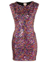 TOPSHOP | Multicolor Sequin Bodycon Dress By Dress Up | Lyst