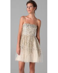 Alice + Olivia - Metallic Tallulah Sequined Party Dress - Lyst