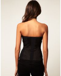 ASOS Collection   Black Asos Zip Front Multi Stitch Corset   Lyst