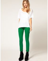 ASOS Collection - Asos Petite Green Skinny Jeans - Lyst