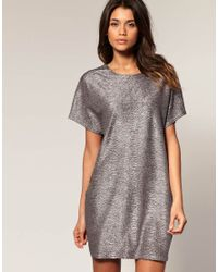 ASOS Collection | Asos Metallic Cocoon Dress | Lyst