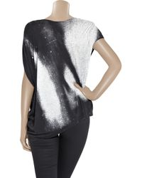 Helmut Lang - Gray Oversized Printed Jersey T-shirt - Lyst