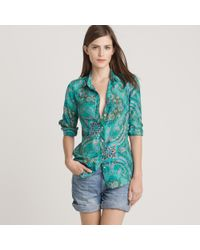 J.Crew | Green Perfect Shirt in Casbah Paisley | Lyst