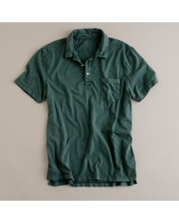 J.Crew | Green Broken-in Pocket Polo for Men | Lyst