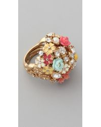 Juicy Couture | Multicolor Floral Cluster Ring | Lyst