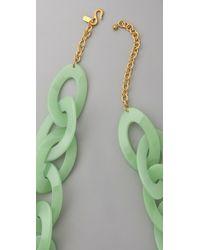 Kenneth Jay Lane | Green Jade Link Necklace | Lyst