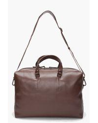 Lanvin - Brown Sac Weekend Bag for Men - Lyst